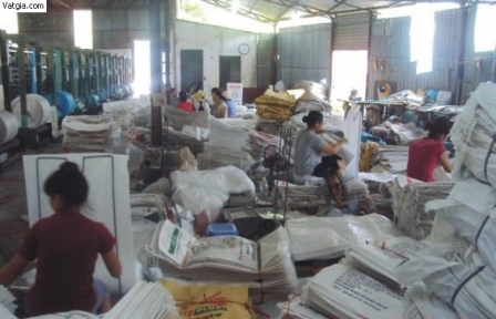 Dây chuyền sản xuất bao tải dứa